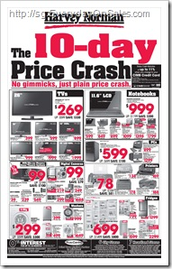 HarveyNorman10dayspricecrash_thumb Harvey Norman Pre IT Show Price Crash Sale