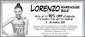 LorenzoWarehouseSale_thumb Lorenzo Warehouse Sales 2011