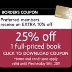 BORDERS Books Coupon