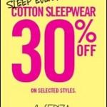 La Senza Cotton Sleepwear Singapore Sales