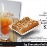Toast & Lemon Grass Lime Tea Promotion