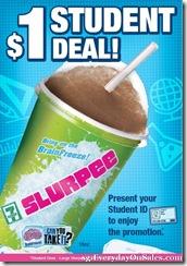 7111LargeSlurpeeStudentDeal_thumb 7-11 $1 Large Slurpee Student Deal