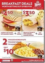 Wendy's New Breakfast Deals