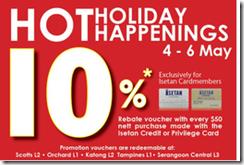 IsetanKatongHotHolidayHappeningsPromotion_thumb Isetan Katong Hot Holiday Happenings Promotion