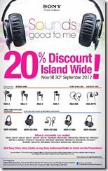 Sony Singapore Headphones Promotion