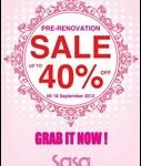 15-18 September 2012: Sasa Pre-Renovation Sale