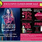 21 September 2012: Watsons Card Members Exclusive Closed-Door Sale