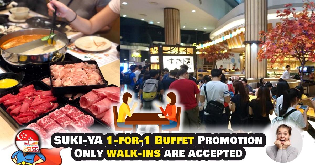 EOS-SG-Suki-ya 24 Feb-1 Mar 2020: Suki-Ya 1-For-1 Buffet Promotion at Plaza Singapura