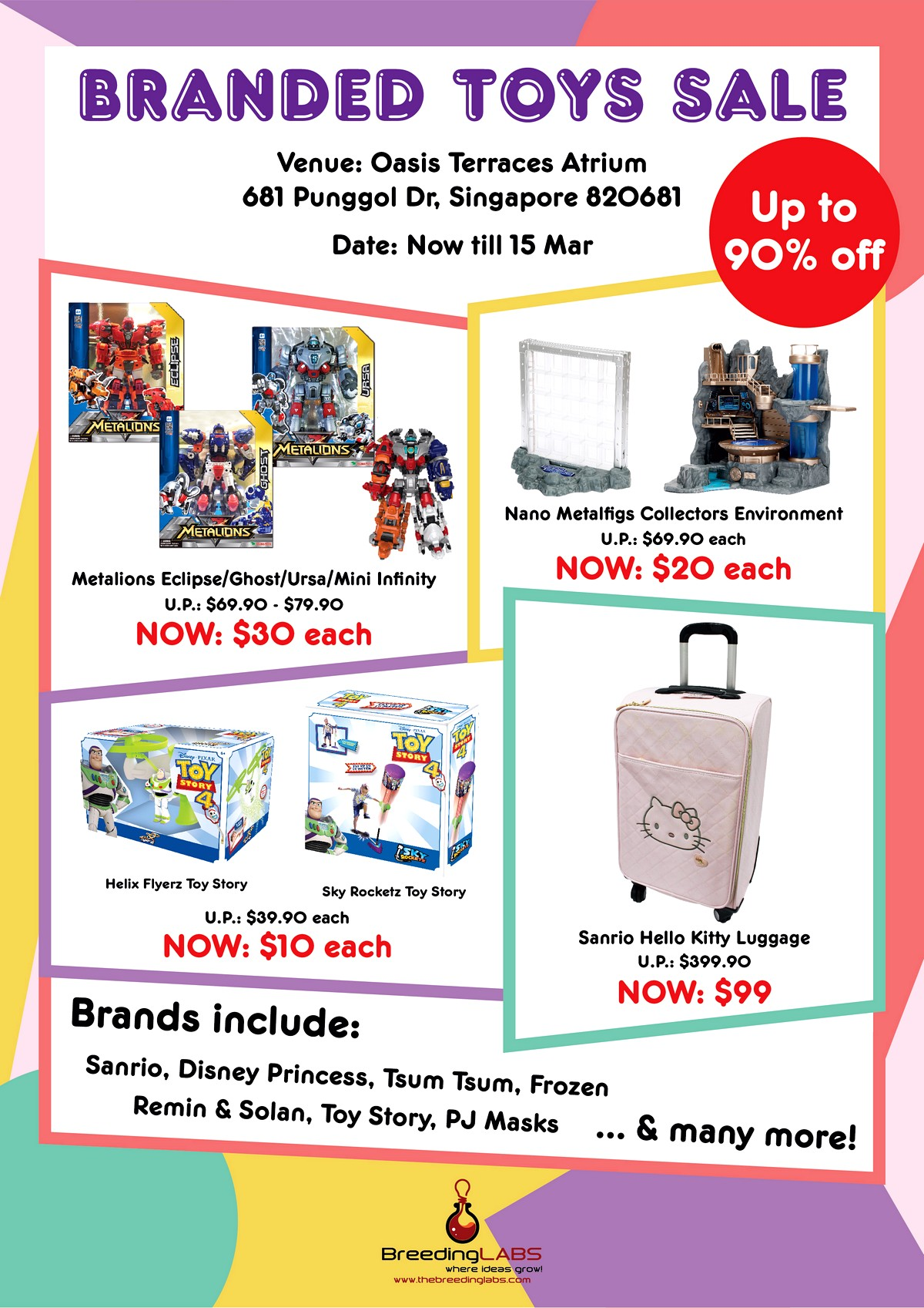 Branded-Toy-sale-Oasis-terraceWarehouse-Sale-CLearance-Singapore- 2-15 Mar 2020: Branded Toys Atrium Sale at Oasis Terraces! Up to 90% Off