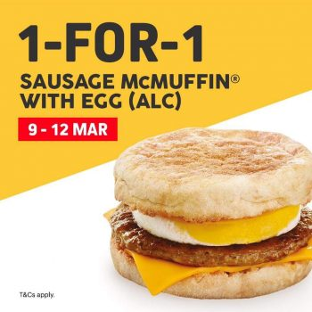 McDonald's-1-for-1-Sausage-McMuffin-with-Egg-Promotion-350x350 9-12 Mar 2020: McDonald's 1 for 1 Sausage McMuffin with Egg Promotion