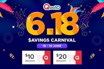Qoo10-6.18-Savings-Carnival-Sale--350x233 18-19 Jun 2020: Qoo10 6.18 Savings Carnival Sale