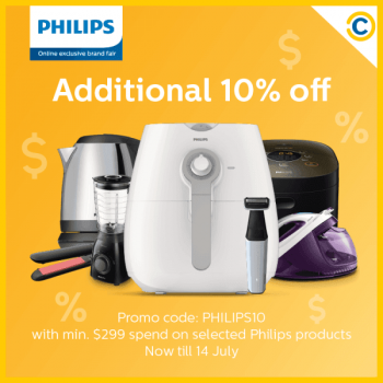 Philips-Brand-Fair-Promotion-at-COURTS--350x350 10-14 Jul 2020: Philips Brand Fair Promotion at COURTS