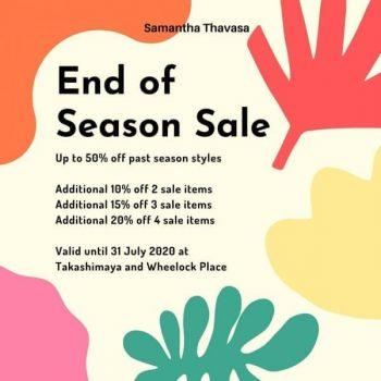 SAMANTHA-THAVASA-End-of-Season-Sale-350x350 11-31 Jul 2020: SAMANTHA THAVASA End of Season Sale at Takashimaya