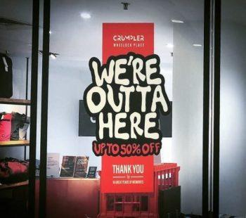 CRUMPLER-All-Sale-350x310 13 Aug 2020 Onward: CRUMPLER Closing Sale at Wheelock Place