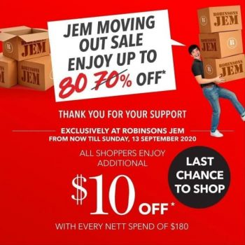Robinsons-Jem-Moving-Out-Sale-350x350 1-13 Sep 2020: Robinsons Jem Moving Out Sale