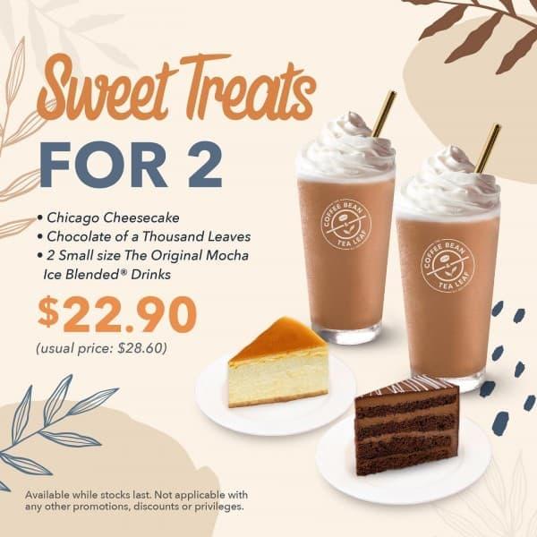 2 Sep 2020 Onward The Coffee Bean Tea Leaf Sweet Treats Promotion Sg Everydayonsales Com