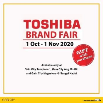 Gain-City-and-Toshiba-Brand-Fair-350x350 1 Oct-1 Nov 2020: Gain City and Toshiba Brand Fair