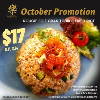 Le-Fusion-Rougie-Foie-Gras-Tobiko-Fried-Rice-Promotion-350x350 13-31 Oct 2020: Le Fusion Rougie Foie Gras Tobiko Fried Rice Promotion