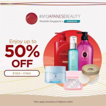 Senka-My-Japanese-Beauty-Promotion-on-Shiseido-Products-at-Watsons-350x350 8 Oct-4 Nov 2020: Senka My Japanese Beauty Promotion on Shiseido Products at Watsons