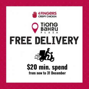 4Fingers-Tiong-Bahru-Plaza-FREE-Delivery-Promotion-350x350 23-31 Dec 2020: 4Fingers Tiong Bahru Plaza FREE Delivery Promotion
