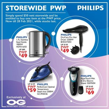 Philips-Special-Promo-at-OG-350x350 Now till 28 Feb 2021: Philips Special Promo at OG
