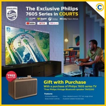 Philips-7605-Series-Promotion-at-COURTS-350x350 13 Jan 2021 Onward: Philips 7605 Series Promotion at COURTS