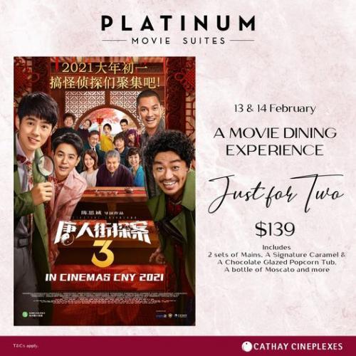 13 14 Feb 2021 Cathay Cineplexes Valentine Platinum Movie Suites Movie Dining Experience Sg Everydayonsales Com