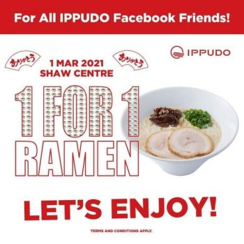 Ippudo-1-For-1-Ramen-Promotion-350x350 1 Mar 2021: Ippudo Shaw Centre 1 For 1 Ramen Promotion