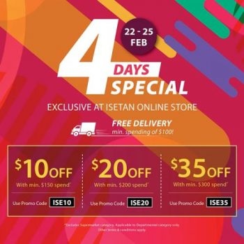 Isetan-Online-4-Days-Special-Sale-350x350 22-25 Feb 2021: Isetan Online 4 Days Special Sale