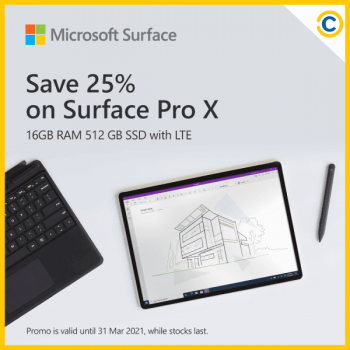 COURTS-Tech-Sale-350x350 9-31 March 2021: Microsoft Surface Pro X Promotion on COURTS Tech Sale