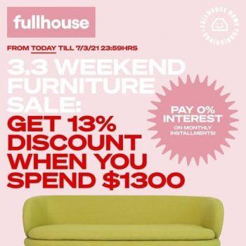 Fullhouse-Home-Furnishings-Pte-Ltd-3.3-Weekend-Furniture-Sale-350x350 5-7 March 2021: Fullhouse Home Furnishings Pte Ltd 3.3 Weekend Furniture Sale