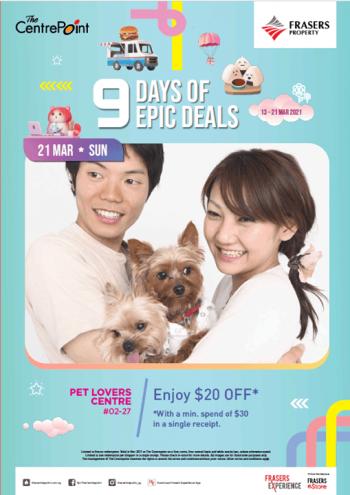 Pet-Lovers-Centre-Epic-Deals-350x495 21 Mar 2021: Pet Lovers Centre Epic Deals at The CentrePoint