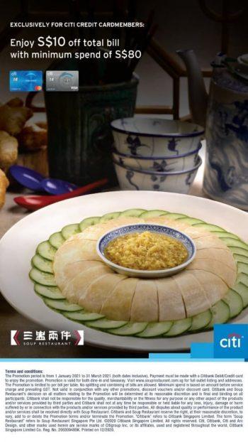 Soup-Restaurant-Citibank-Cardmembers-Promotion-350x622 31 Mar 2021: Soup Restaurant Citibank Cardmembers Promotion