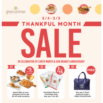 Green-Common-Thankful-Month-Sales-at-VivoCity-350x350 5 Apr-3 May 2021: Green Common Thankful Month Sales at VivoCity