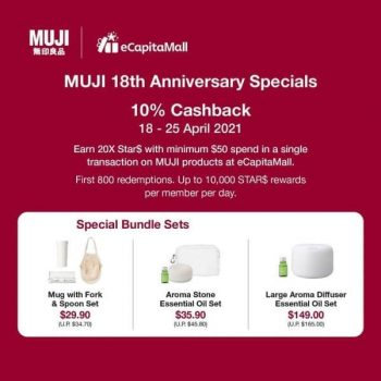 MUJI-18th-Anniversary-Special-Promotion-at-eCapitaMall-350x350 18-25 Apr 2021: MUJI 18th Anniversary Special Promotion at  eCapitaMall