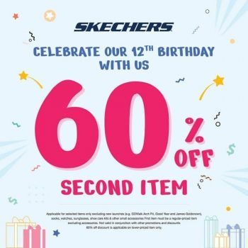Skechers-12th-Birthday-Promotion-at-VivoCity-350x350 12 Apr-2 May 2021: Skechers 12th Birthday Promotion at VivoCity