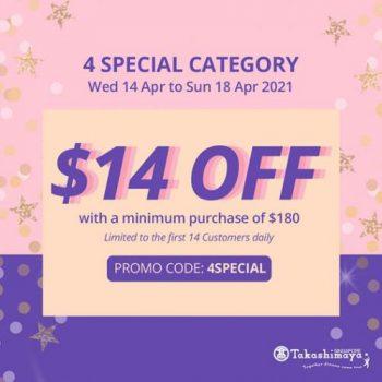 Takashimaya-Online-4-Special-Category-Promotion-350x350 14-18 Apr 2021: Takashimaya Online 4 Special Category Promotion