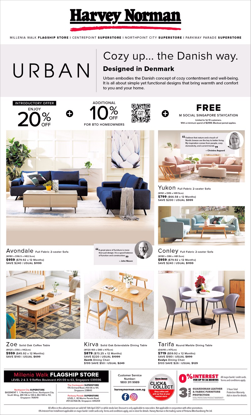 Urban-Furniture-Launch_10-April-2021 19-23 Apr 2021: Harvey Norman Exclusive Bid Brand Sale! Up to 65% OFF!