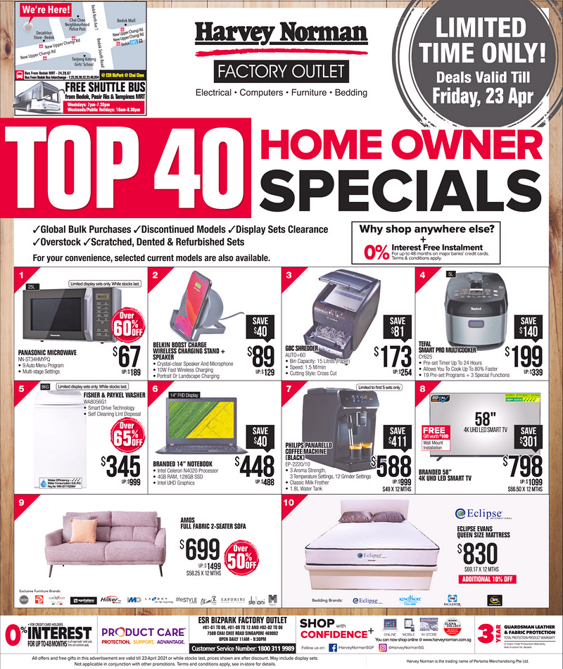 Viva_14-April-2021-1 19-23 Apr 2021: Harvey Norman Exclusive Bid Brand Sale! Up to 65% OFF!