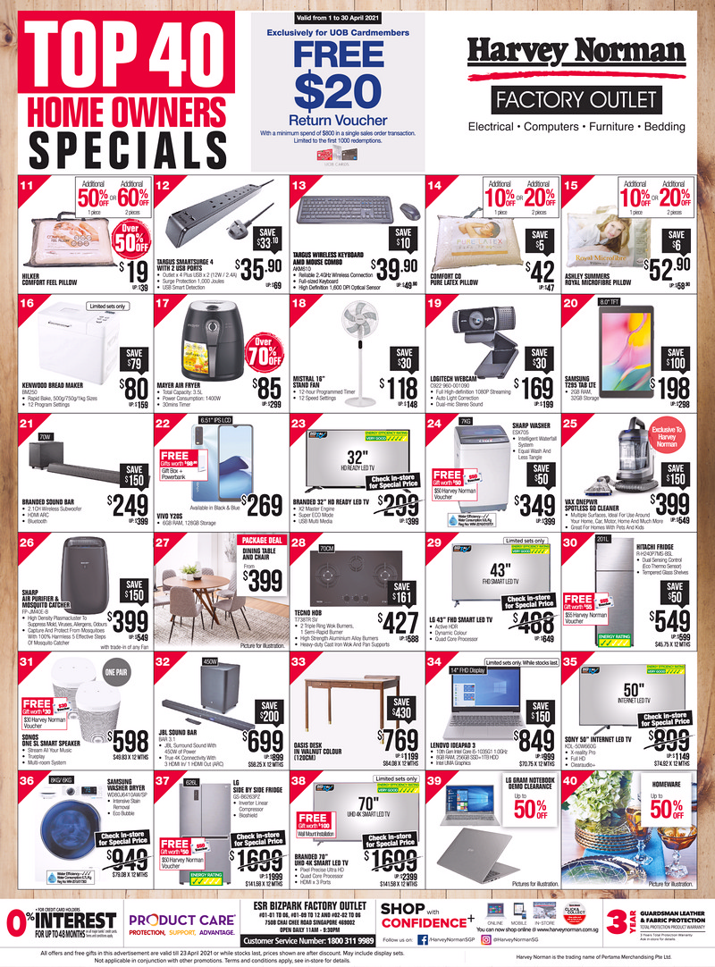 Viva_14-April-2021 19-23 Apr 2021: Harvey Norman Exclusive Bid Brand Sale! Up to 65% OFF!
