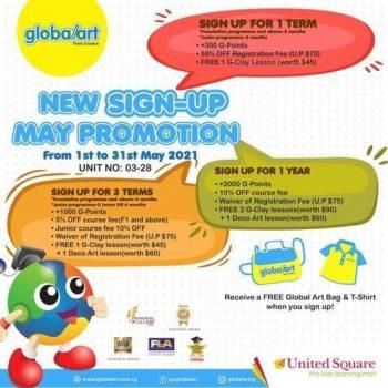 373173_tNVc33uKDPxGoRHc_0-350x350 15-31 May 2021: Global Art Free T-shirt Promotion at United Square Shopping Mall