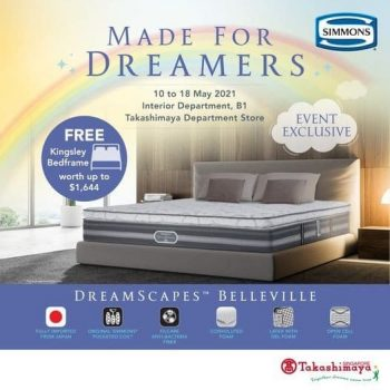 Takashimaya-Event-Exclusive-Promotion-350x350 12-18 May 2021: Simmons Dreamscapes Belleville Mattress Event Exclusive Promotion at Takashimaya