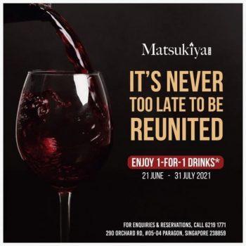 Matsukiya-1-for-1-Drinks-Promotion-350x350 22 Jun-31 Jul 2021: Matsukiya 1-for-1 Drinks Promotion