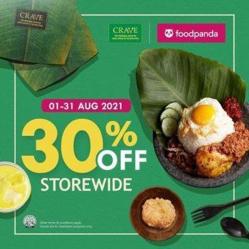 CRAVE-Nasi-Lemak-Teh-Tarik-Storewide-Promotion-350x350 1-31 Aug 2021: CRAVE Nasi Lemak & Teh Tarik Storewide Promotion at FoodPanda