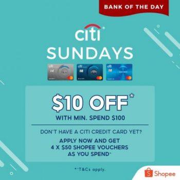 Shopee-Citi-Credit-Card-Sunday-10-OFF-Promotion-350x350 27 Sep 2021 Onward: Shopee Citi Credit Card Sunday $10 OFF Promotion
